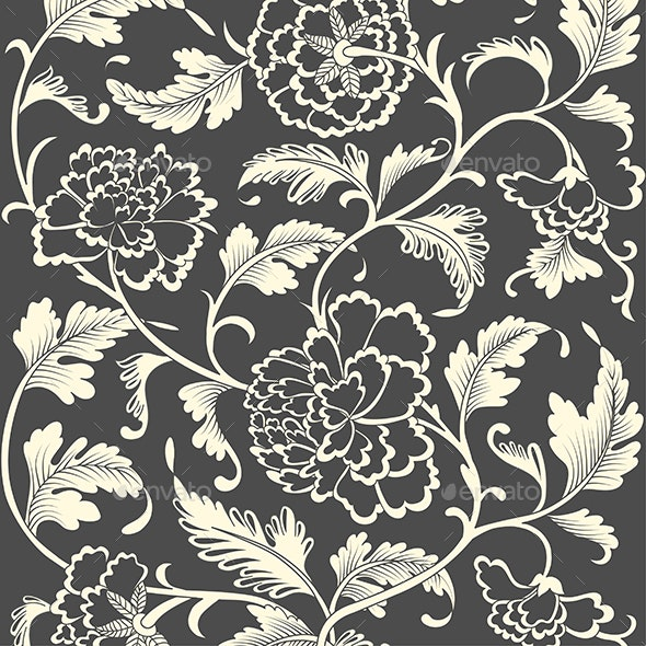 Ornamental Colored Antique Floral Pattern - Backgrounds Decorative