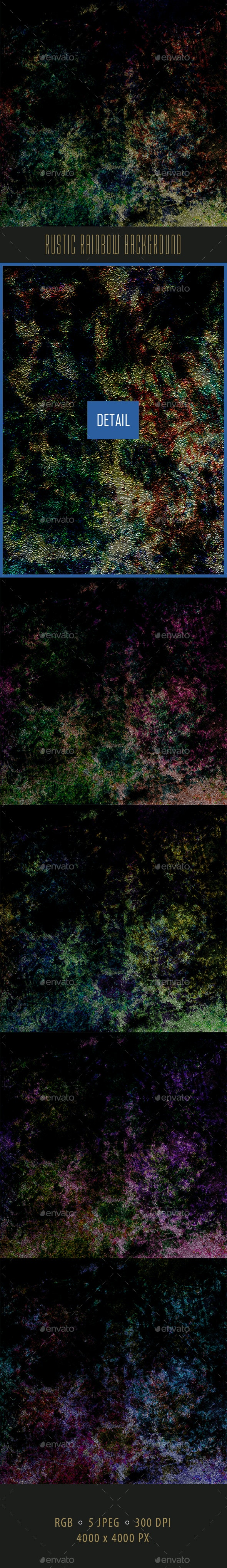 Rustic Rainbow Background - Abstract Backgrounds
