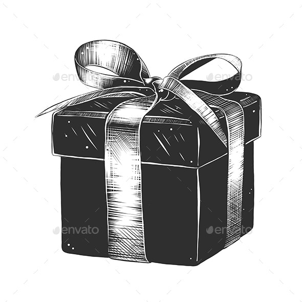 Packaged Gift in Monochrome - Miscellaneous Vectors