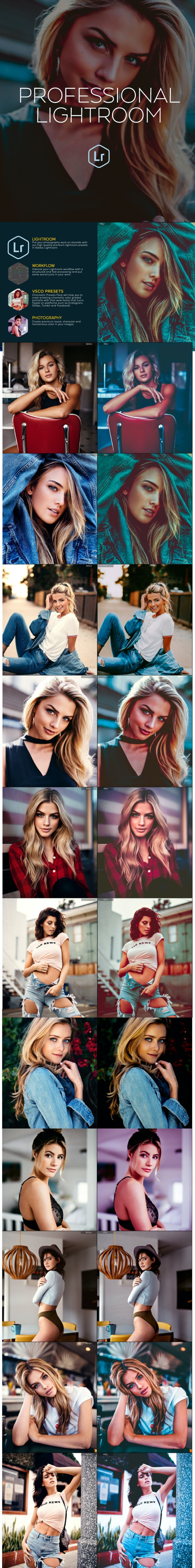 Premium Lightroom Presets - Portrait Lightroom Presets