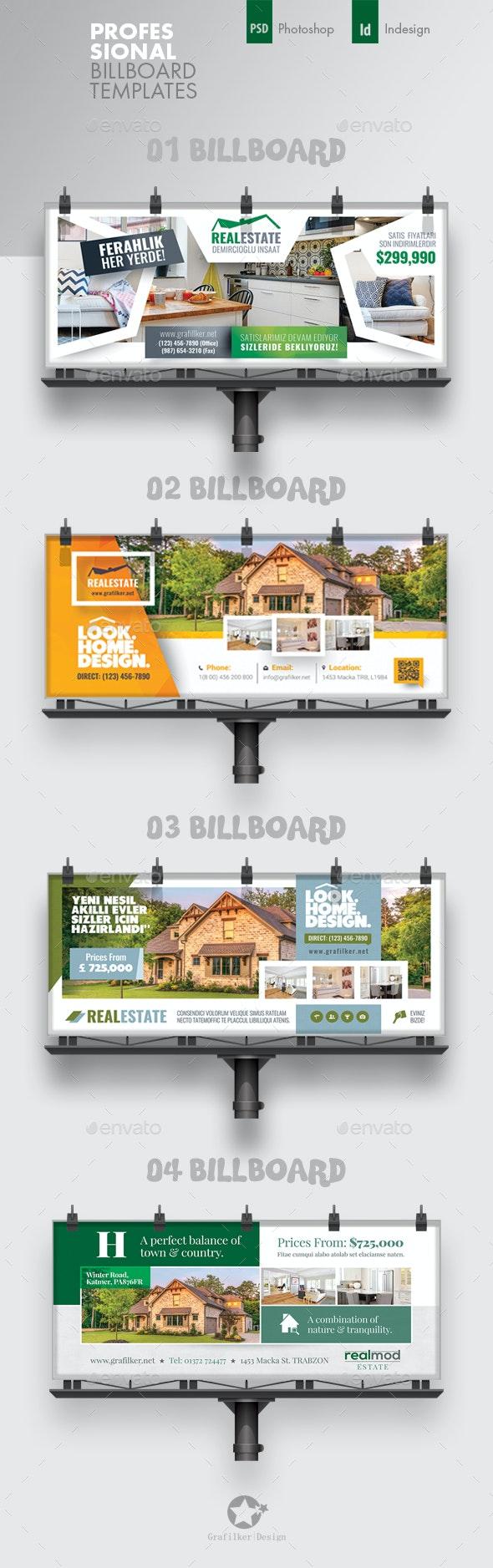 Real Estate Billboard Bundle Templates - Signage Print Templates