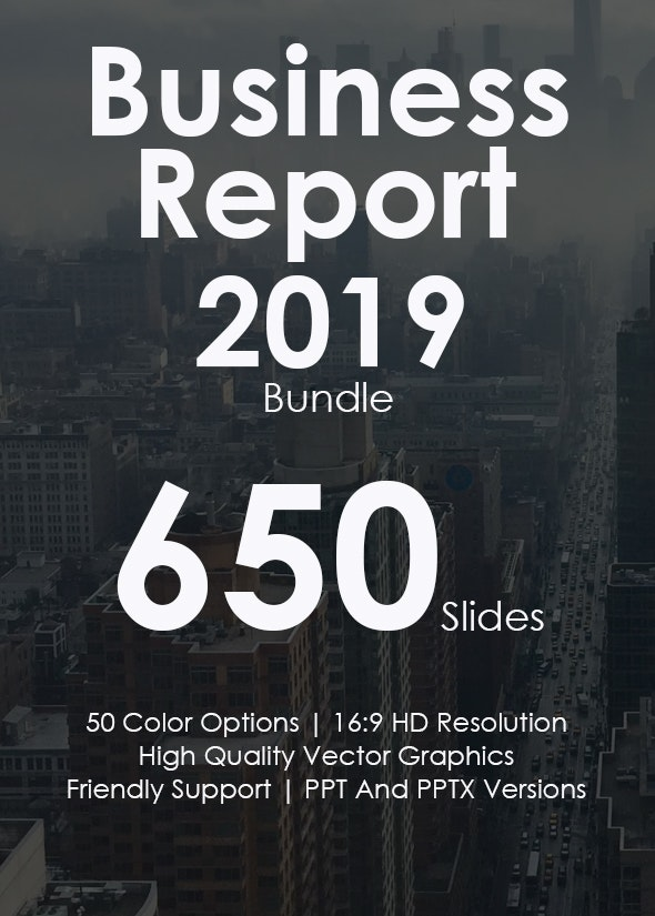 Business Report 2019 - Powerpoint Templates Bundle - Business PowerPoint Templates
