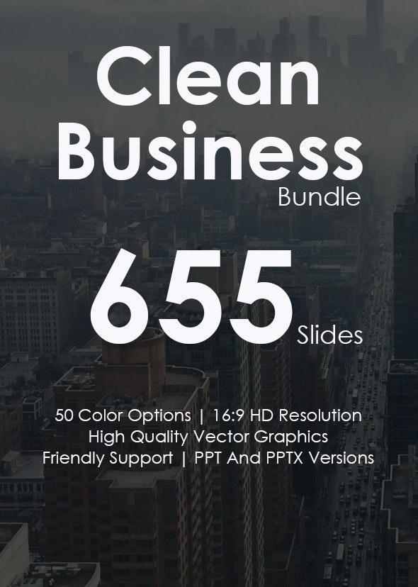 Clean Business - Keynote Templates Bundle - Business Keynote Templates