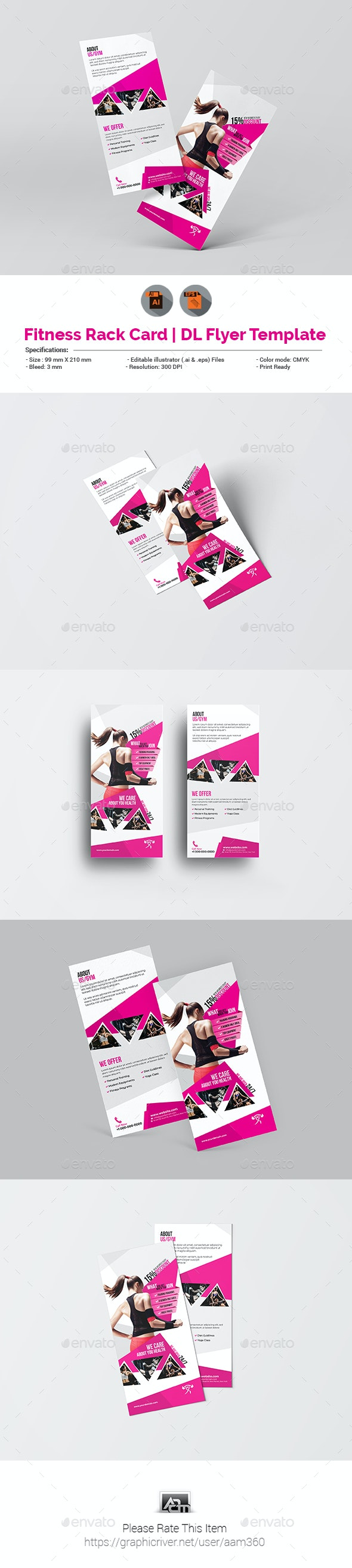 Fitness DL Flyer Template - Sports Events