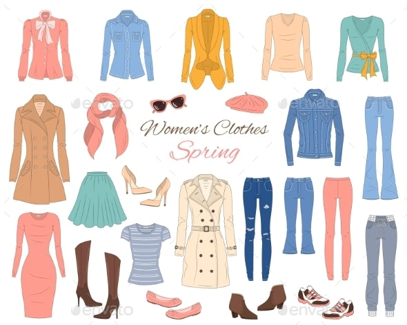 Women Clothes Collection - Man-made Objects Objects