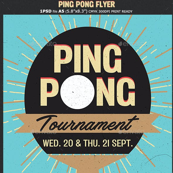 Table Tennis / Ping Pong Flyer Template