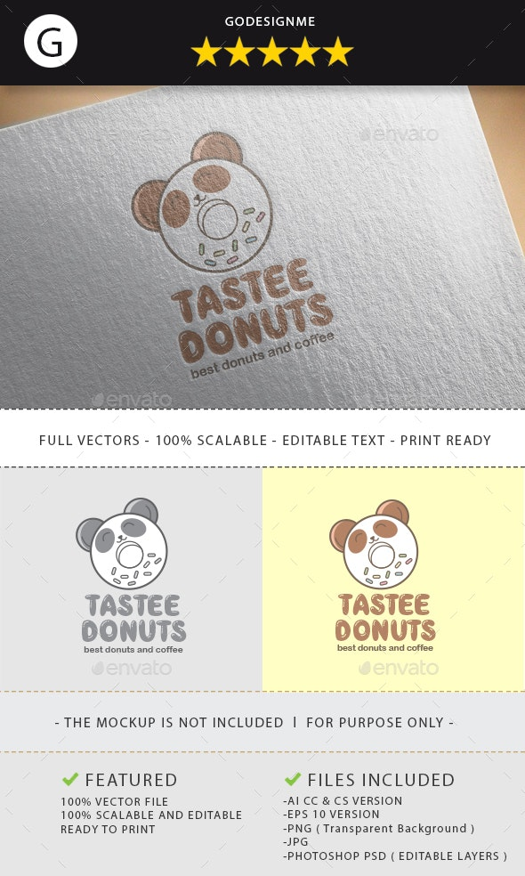 Tastee Donut Logo Design - Vector Abstract