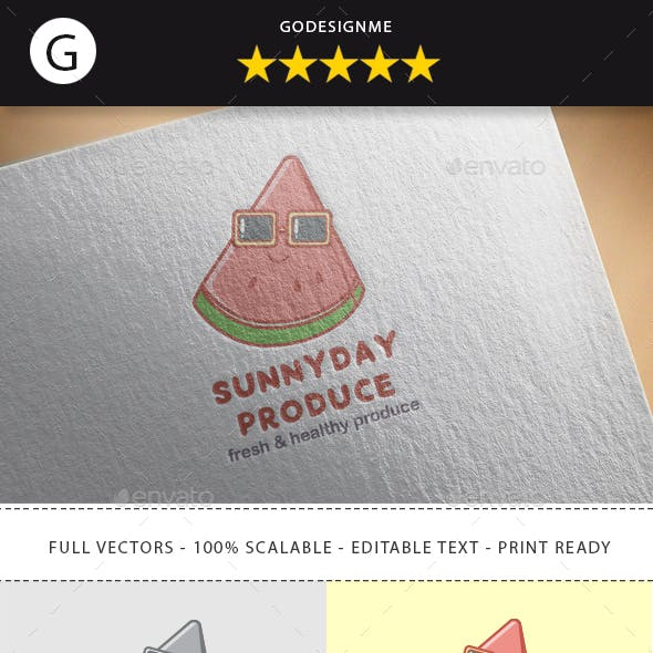 Sunnyday Produce Logo Design