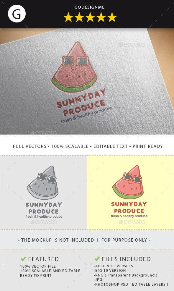 Sunnyday Produce Logo Design - Vector Abstract