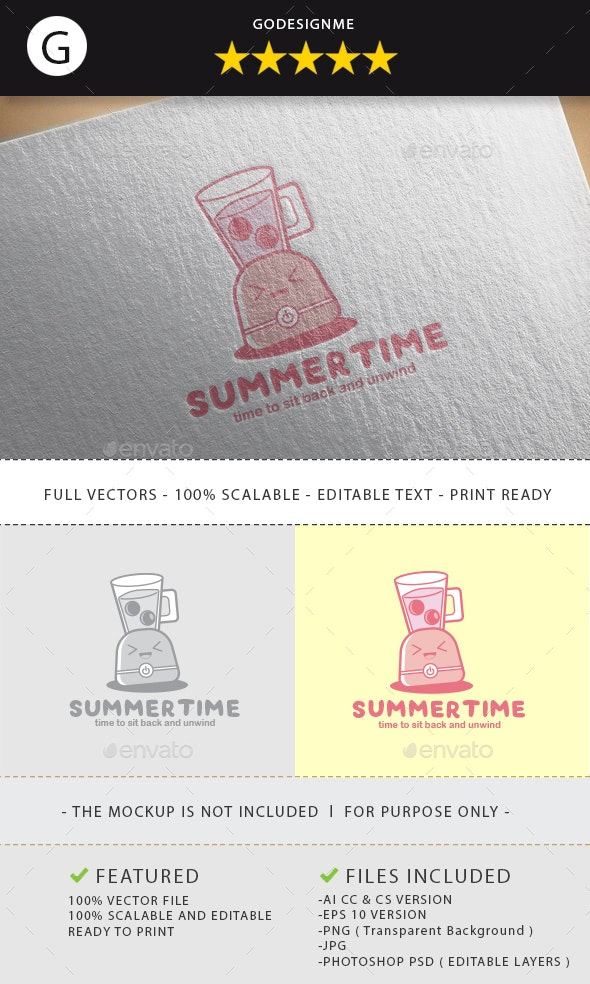 Summertime Logo Design - Vector Abstract