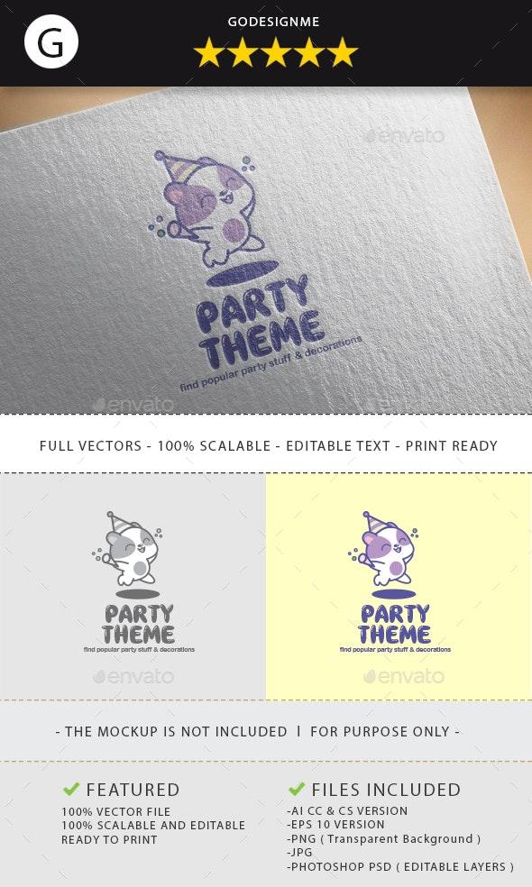 Party Theme Logo Design - Vector Abstract