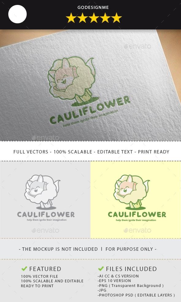 Cauliflower Logo Design - Vector Abstract