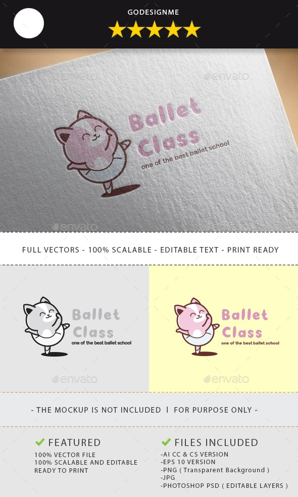Ballet Class Logo Design - Vector Abstract
