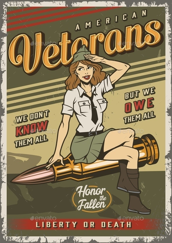 Vintage Military Template - People Characters