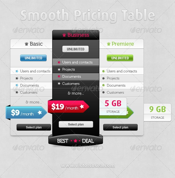 Smooth Pricing Table - Miscellaneous Web Elements