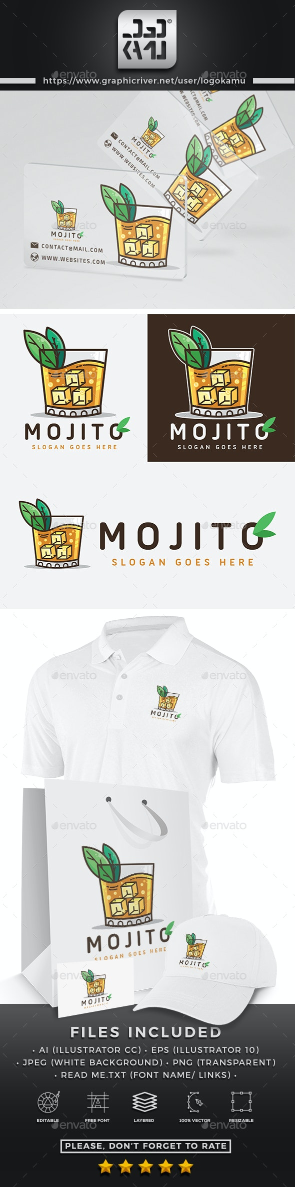 Mojito Drink Logo - Food Logo Templates