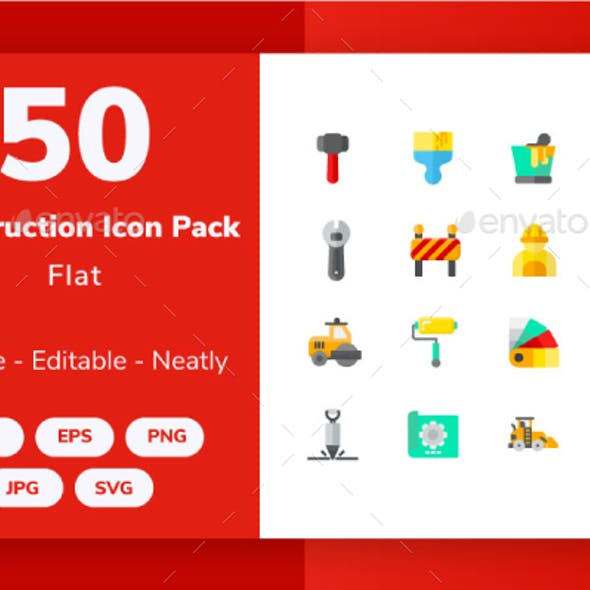 Construction and Tools - Flat Icon
