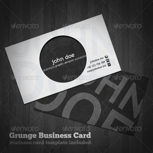 Grunge Business Card - Business Cards Print Templates