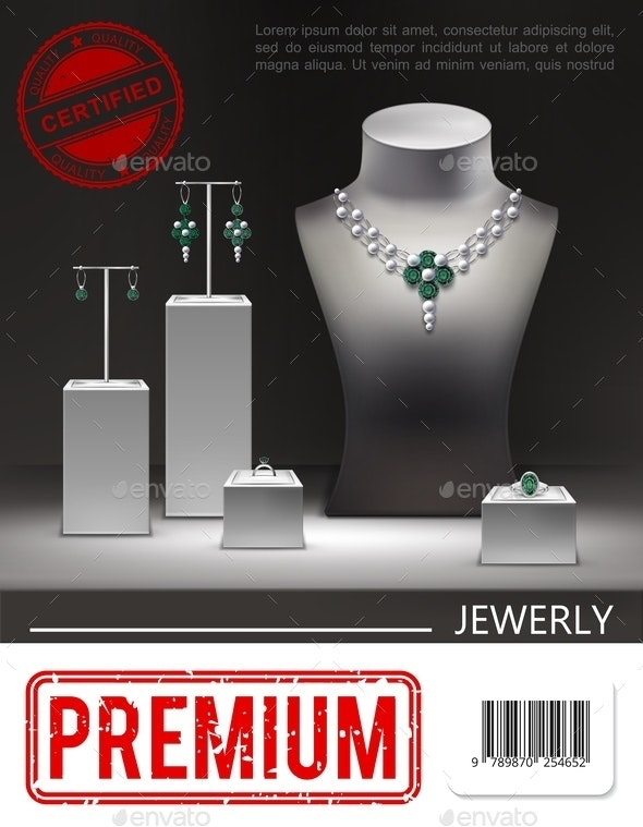 Realistic Jewelry Promotional Poster - Miscellaneous Vectors