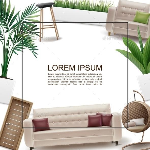 Realistic Home Interior Template - Miscellaneous Vectors