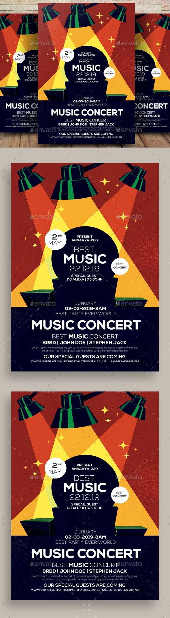 Live Music Concert Flyer - Flyers Print Templates