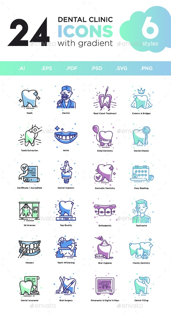 Dental Clinic Icons - Icons