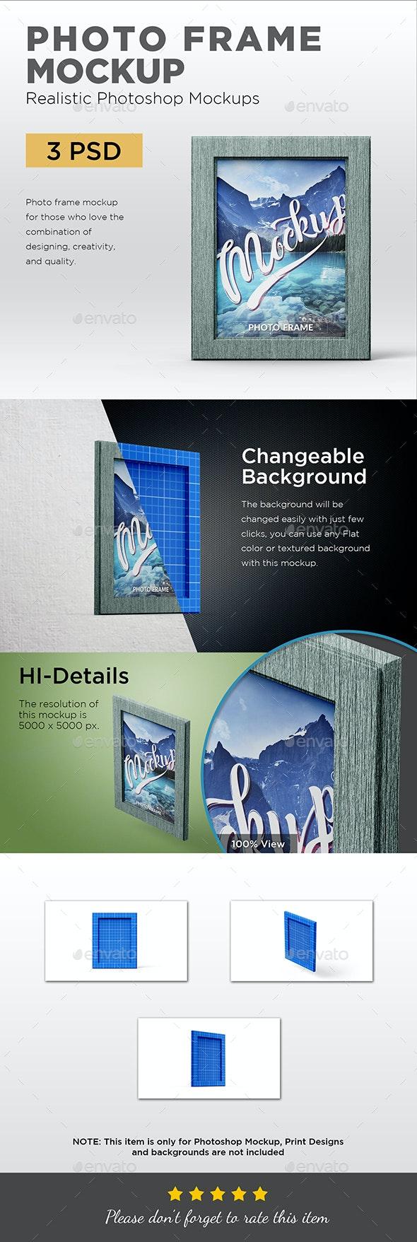 Photo Frame Mockup - Product Mock-Ups Graphics
