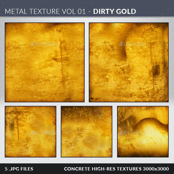 Metal Textures Volume 01 - Dirty Gold