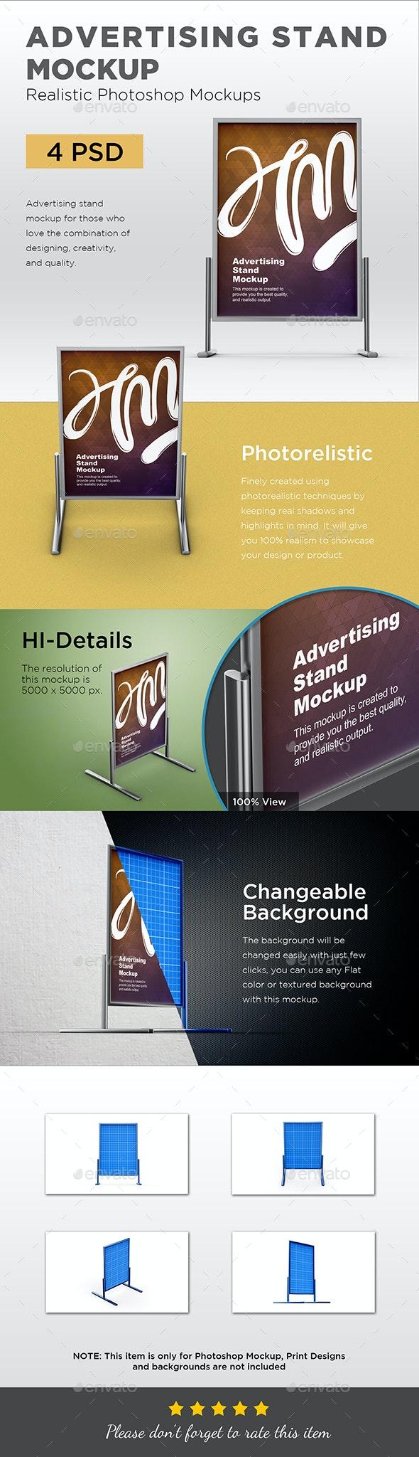 Advertising Stand Mockup - Signage Print