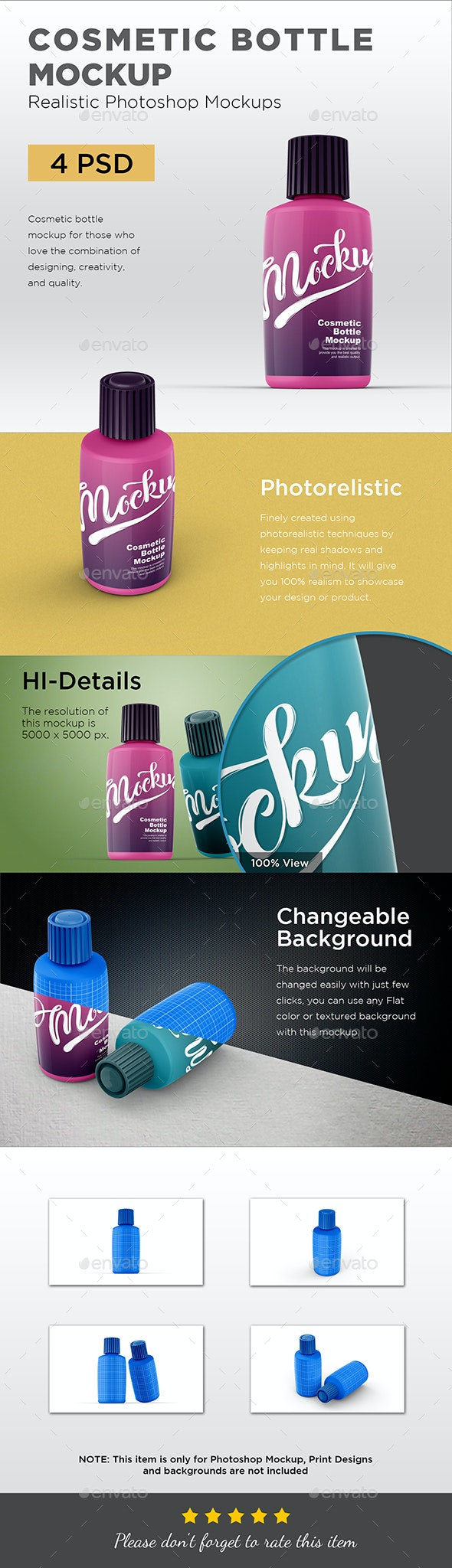 Cosmetic Bottle Mockup - Packaging Product Mock-Ups