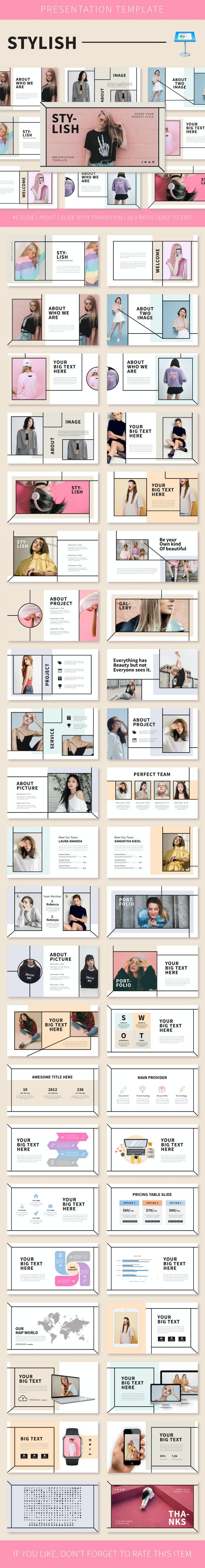 Stylish Keynote Temp - Creative Keynote Templates