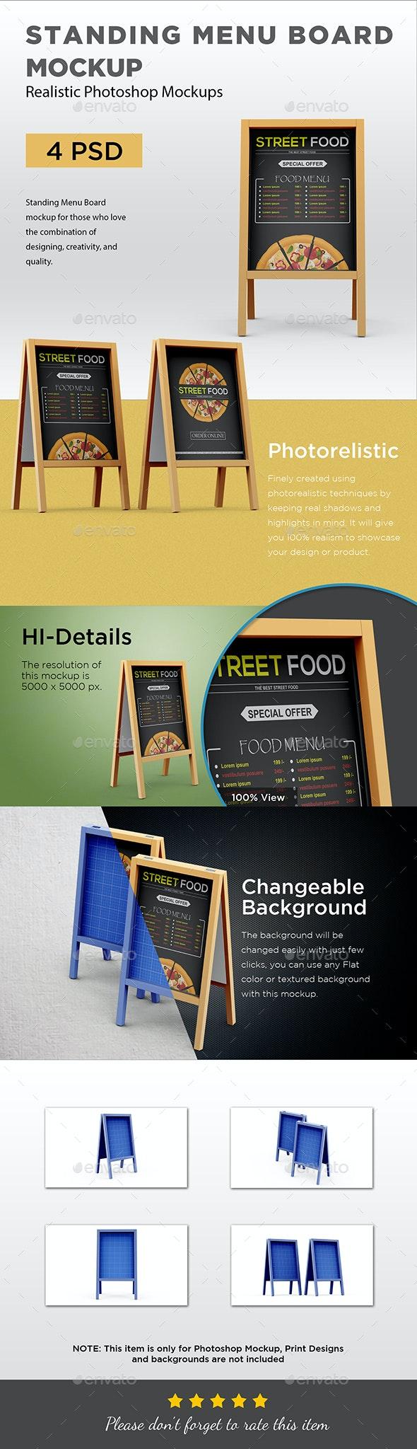 Standing Menu Board - Signage Print