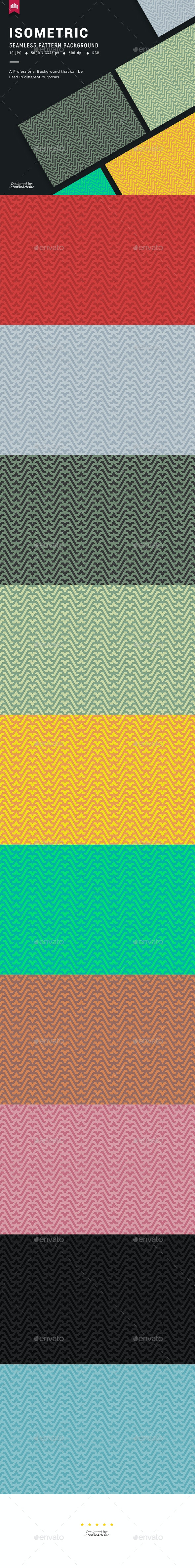 Isometric Seamless Pattern Background - Patterns Backgrounds