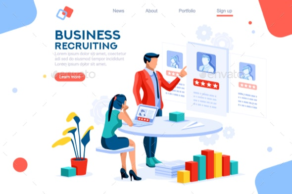 Infographic Employment Concept Vector - Concepts Business