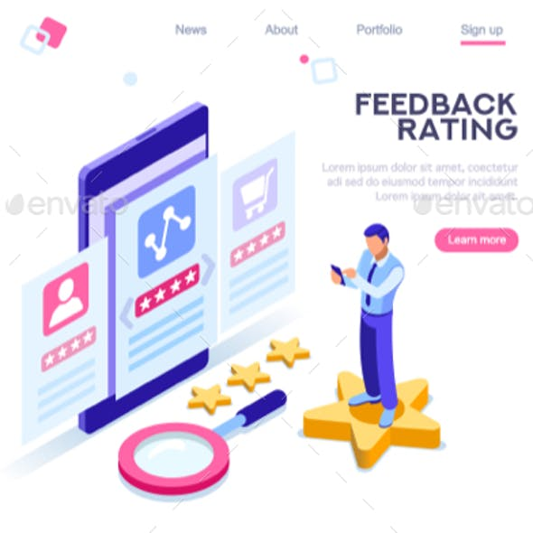 Survey Banner Rating Concept