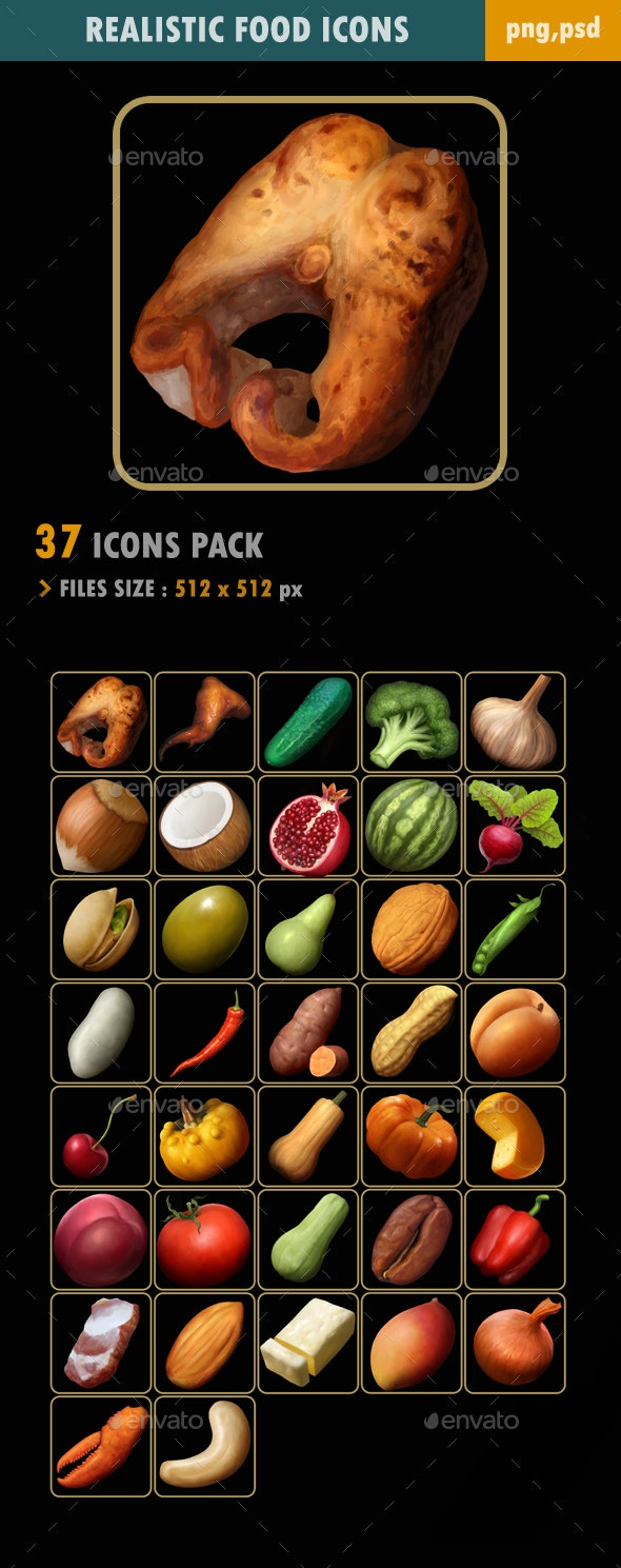 Food Icons - Miscellaneous Game Assets