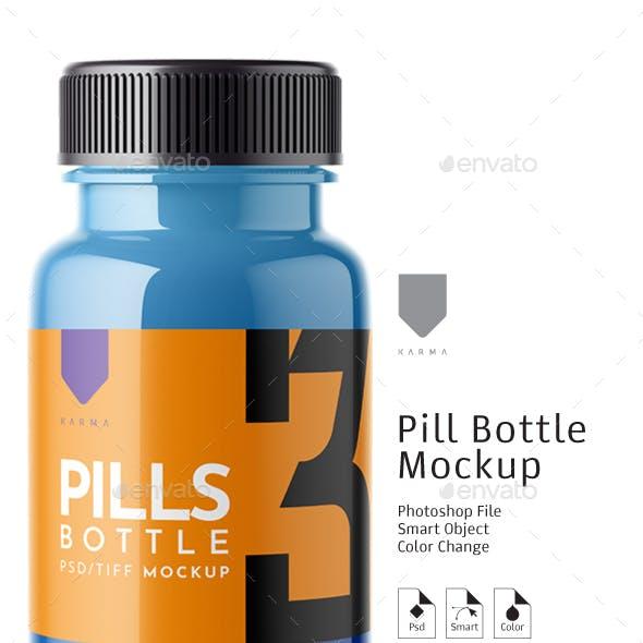 Pills Bottle Mockup 3