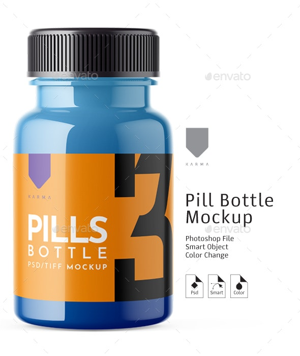 Pills Bottle Mockup 3 - Packaging Product Mock-Ups