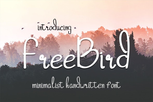 Freebird - Hand-writing Script