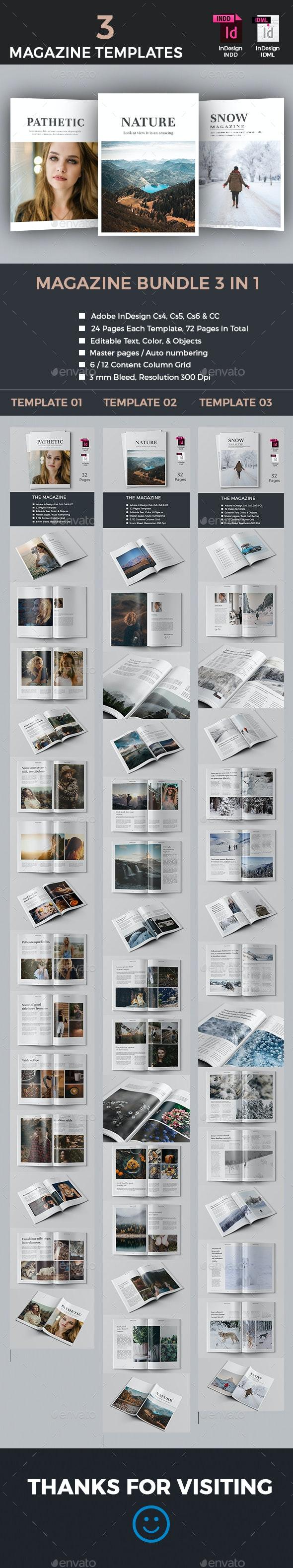 The Magazine Bundle - Magazines Print Templates