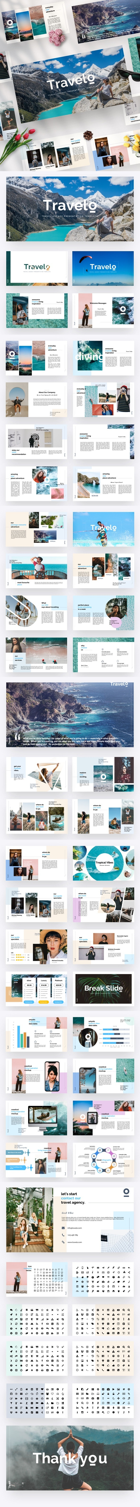 Travelo - Travel Agency Google Slide Template - Google Slides Presentation Templates