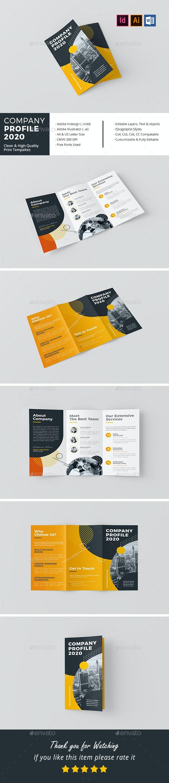 Tri-Fold Company Profile 2020 - Corporate Brochures
