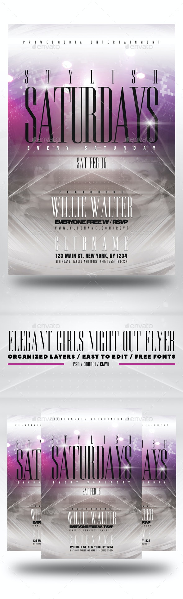 Elegant Girls Night Out Flyer - Clubs & Parties Events