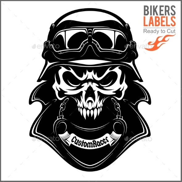Vector Monochrome Image on a Motorcycle Theme - Miscellaneous Vectors