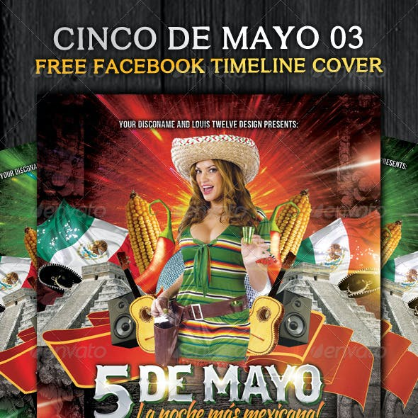 Cinco de Mayo 03 - Flyer Template + Fb Timeline