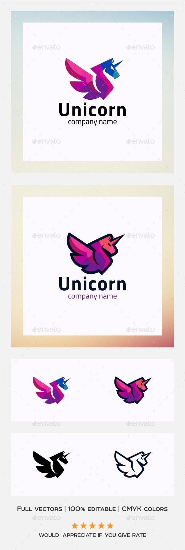 Unicorn - Logo Template - Animals Logo Templates