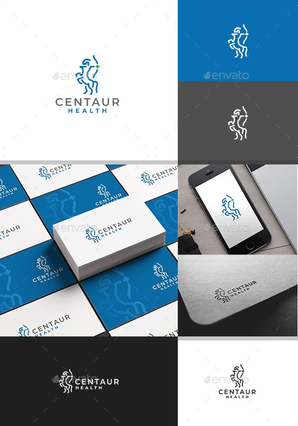 Centaur Health Logo Template - Animals Logo Templates
