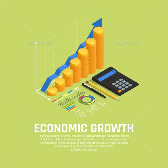 Investment Funding Isometric Composition - Backgrounds Decorative
