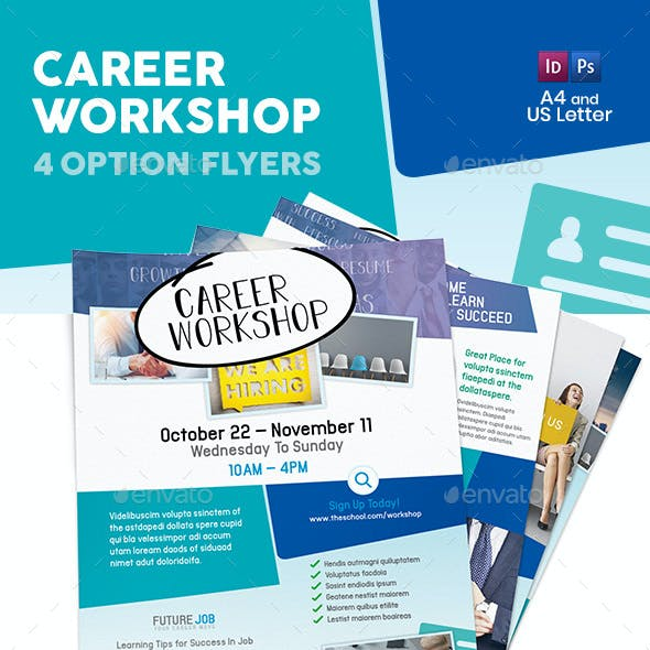 Career Workshop Flyers – 4 Options