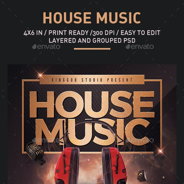 House Music Flyer Promotional